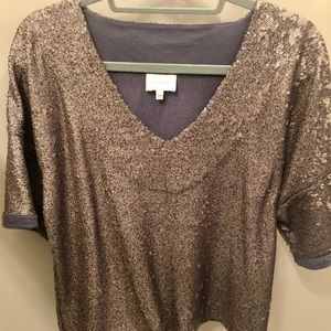 Anthropologie Sequin Top